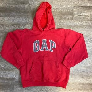 Gap Spell-out Logo Hoodie Red Kids 14-16 XXL